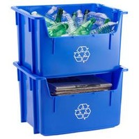 Blue Stacking Recycling Bin | The Container Store