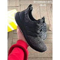 ADIDAS UltraBOOST street fashion men and women casual wild sports running shoes Black