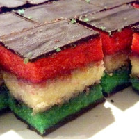 Easter The Best NY Rainbow cookies, tri color cookies, Italian cookies, baked good