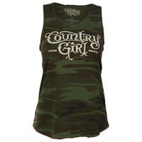 Country Girl Women's Camo Racer Back Tank