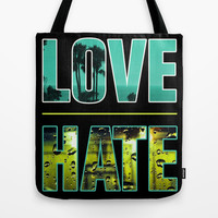 Thin Line Between Love and Hate Tote Bag by DejaLiyah | Society6