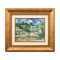 Van Gogh Wall Art Oil Painting Miniature Hand Painted Framed & Ready to Hang