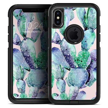 Watercolor Cactus Succulent Bloom V8 - Skin Kit for the iPhone OtterBox Cases