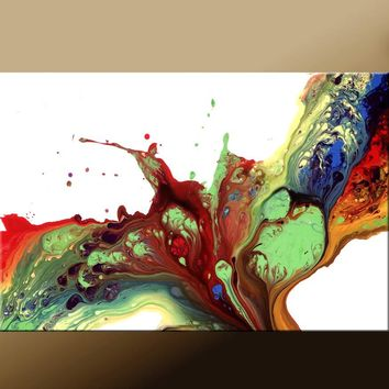 Abstract Art Print Contemporary Abstract Art by Destiny Womack - If I Were a Bird - dWo