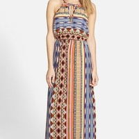 Junior Women's Soprano Print Halter Maxi Dress