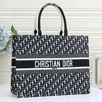 Dior Book Tote Fashion Leather Handbag Satchel Shoulder Bag