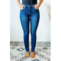 Judy Blue Thermal Skinnies (Dark)