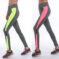 Women Activewear Pink Dark Grey Leggings Sexy Ladies Workout