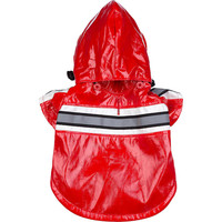 Reflecta-Glow Reflective Waterproof Adjustable Pvc Pet Raincoat - Red (R4RD~MD)