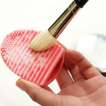 Brushegg Silicone Brush Cleaning Egg Brush Egg Cosmetic Brush Cleanser Make up Brush Cleaner Clean Tools for mac Makeup
