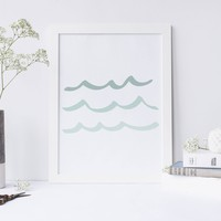 Mint Wave Art Print