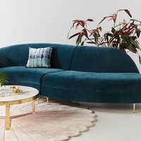 Grace Serpentine Two-Piece Sectional