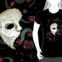 Phantom of the Opera Mask and Roses by NymphaeaNerd