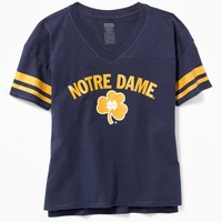 College Team Sleeve-Stripe Tee for Girls | Old Navy