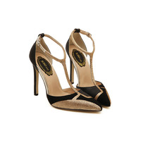 New Golden Rhinestone Patchwork Mix Color 11cm High Heels Women Pumps  Sexy Pointed Stiletto Heels  Dress Party Shoes