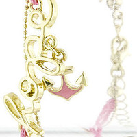 Pink Hope Anchor Bracelet
