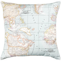 Buy John Lewis Maps Cushion, Blue online at John Lewis