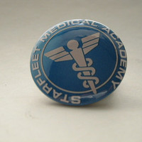 Star Trek Starfleet Medical Academy Logo Pinback Button or Magnet