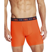Under Armour Mens Moisture Wicking Fitted Boxer Briefs