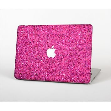The Pink Sparkly Glitter Ultra Metallic Skin Set for the Apple MacBook Pro 13""