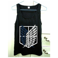 Attack on Titan design for Tank Top Mens and Tank Top Girls