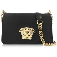 Versace Palazzo Black Nappa Leather Shoulder Bag