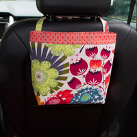 Car Headrest Caddy ~ Pink Grapefruit ~ Orange XOXO Band