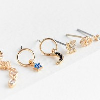 Celestial Post Earring Set | Urban Outfitters