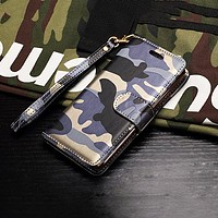Camouflage iPhone Wallet Case Cover
