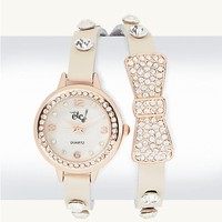 Pave Bow Wrap Watch | Watches | rue21