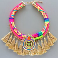 Alhambra Neon Statement Necklace