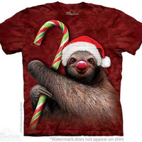 Candy Cane Sloth Tee Shirt