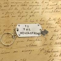 Hamilton The Musical Story Of Tonight Stamped Charm Keychain