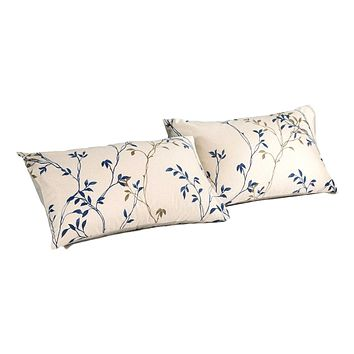 Tache Poplin Cotton Elegant Leaf Vine Cream Beige Pillowcase (JHW-842)