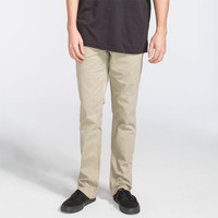 Rvca Stay Mens Pants Khaki  In Sizes