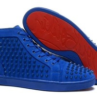 christian louboutin all blue and all black