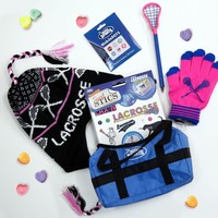 Girls Lacrosse Valentines Day Gift Bag | LuLaLax.com