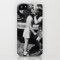Just a Kiss iPhone Case by Daisy Flores  | Society6