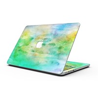 Blushed Green 32 Absorbed Watercolor Texture - MacBook Pro with Retina Display Full-Coverage Skin Kit