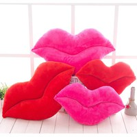 Stuffed Lips Shape Pillow Home Textile Pillow Plush Cushion Decorative Body Travel Memory Bedding Home Throw Fun Gift P20