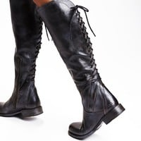 Free People Surry Lace Back Boot