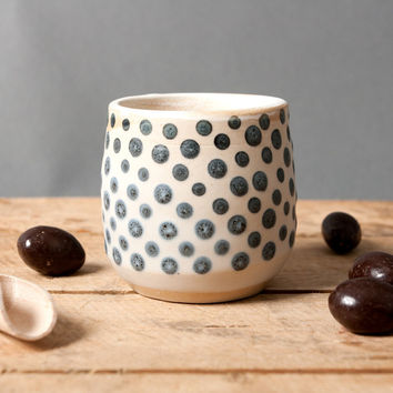 Little Cup with Grey Dots
