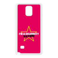 Celebrity Hater White Silicon Rubber Case for Galaxy Note 4 by Chargrilled