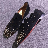 DCCK2 Cl Christian Louboutin Loafer Style #2382 Sneakers Fashion Shoes