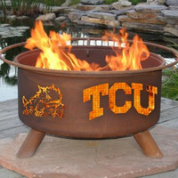 TCU Texas Christian University Frogs NCAA Portable Outdoor Grilling Fire Pit
