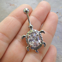Turtle Belly Button Ring Jewelry