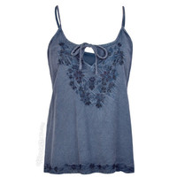 Wild Flower Embroidered Tank Top on Sale for $19.95 at The Hippie Shop