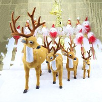 1pcs Deer Plush Simulation Christmas Decorations