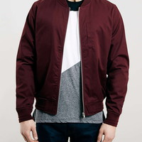 Burgundy Cotton Bomber Jacket - View All Black Friday Deals - Offers