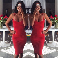 BACK CROSS BACKLESS DRESS SEXY CONDOLE BANDAGE DRESS